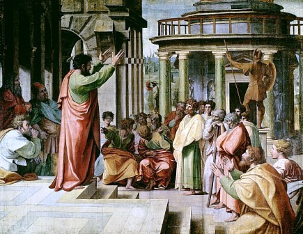 st paul preaching at athens raphael